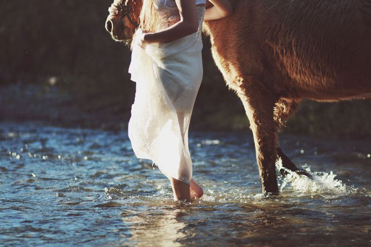 "After I'm married will you take my ""mess the dress"" pictures for me and we can play in the creek? :)"