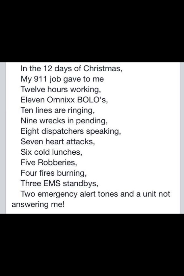 12 Days of Christmas:  Dispatch Style