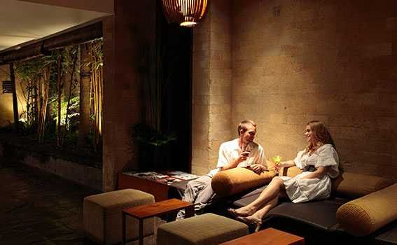 couple relaxed in the lounge Seminyak
