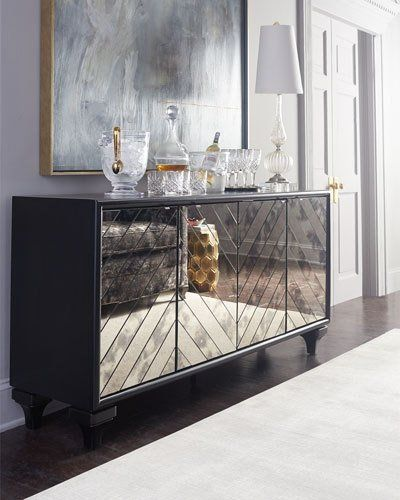 H7KEG Hooker Furniture Libby Mirrored Sideboard
