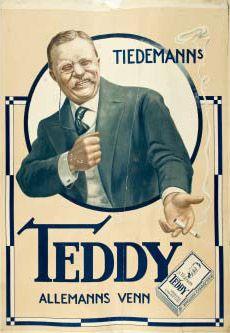 Tiedemanns Teddy sigaretter reklameplakat