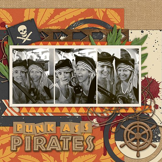 Punk Ass Pirates - Go Wild Collection from Peppermint Creative #disney #pirates #digiscrap #digitalscrapbook #layouts