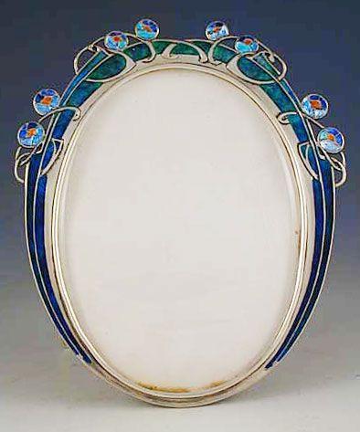 Liberty & Co. silver and enamel photo frame | JV