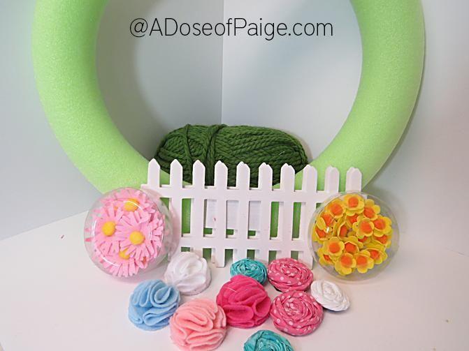 DIY Spring Decor : DIY Spring Wreath: Garden Of Flowers
