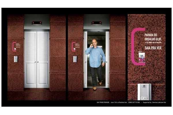 Out of the closet-Creative elevator ads
