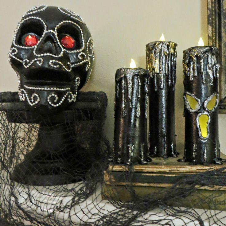 Halloween kaarsen, Spooky Kaarsen, Tea Light Halloween Kaarsen, Dollar Tree