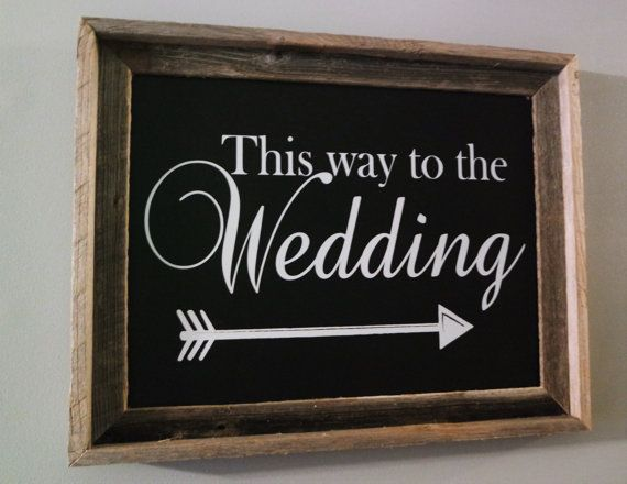 Wedding Direction Signs Wedding Chalk board by CarmelOakDesigns