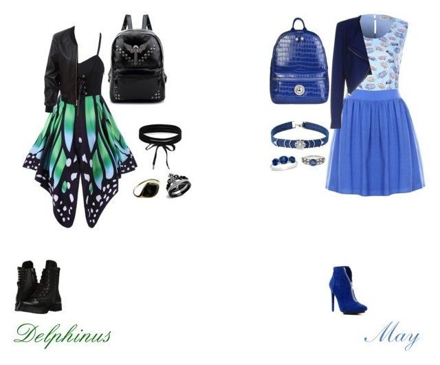 """""""Delphinus and May First day of school"""" by alexxoxox on Polyvore featuring LE3NO, Pinko, Capezio, Michael Antonio, Versace, Boohoo, Noir Jewelry and Cathy Waterman"""