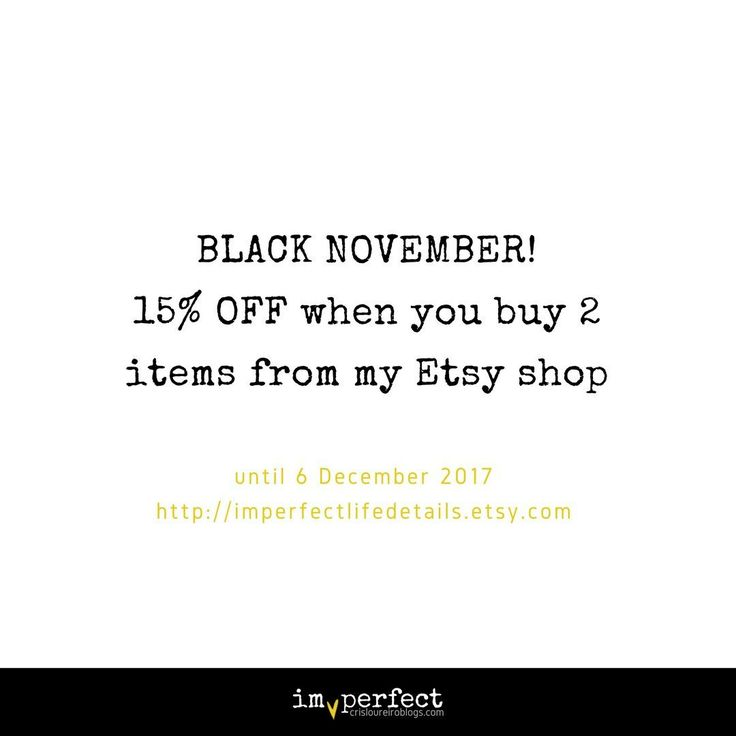 You still have until 6th December to enjoy shopping with a discount 💛
