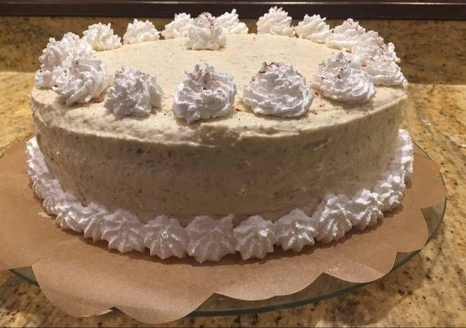 Rumos-diós, mascarponés, tejszínes torta