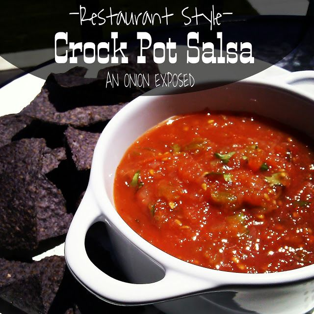 Crock Pot Salsa {An Onion Exposed}