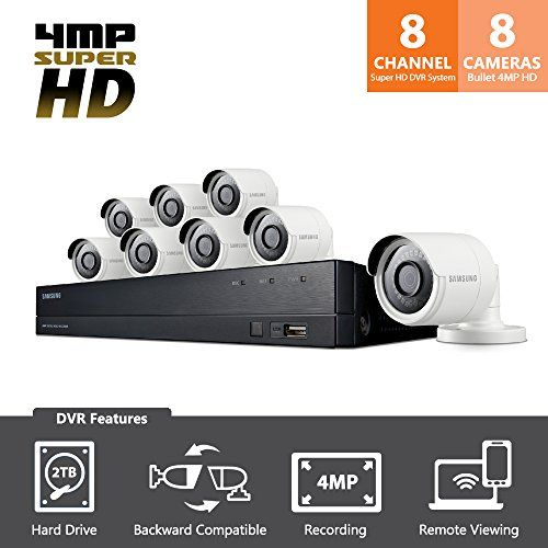 SDH-C84080BF - Samsung Wisenet All-in-One 8 Channel 4 MP