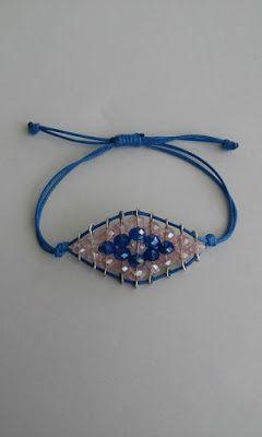 Irene's Art : Κοσμήματα με χάντρες- βραχιόλι μάτι & boho κρεμαστό