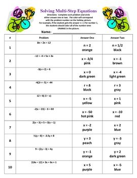 75 best Math: Equations images on Pinterest | School, Activities ...