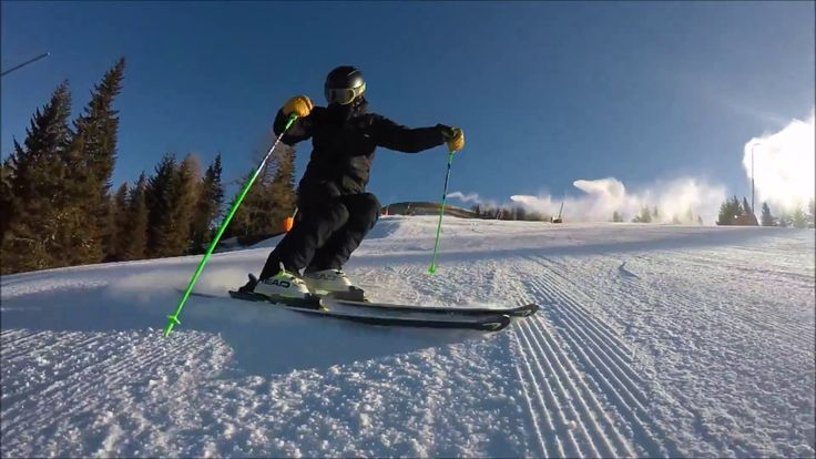 Skiing short turns exercise step by step - YouTube