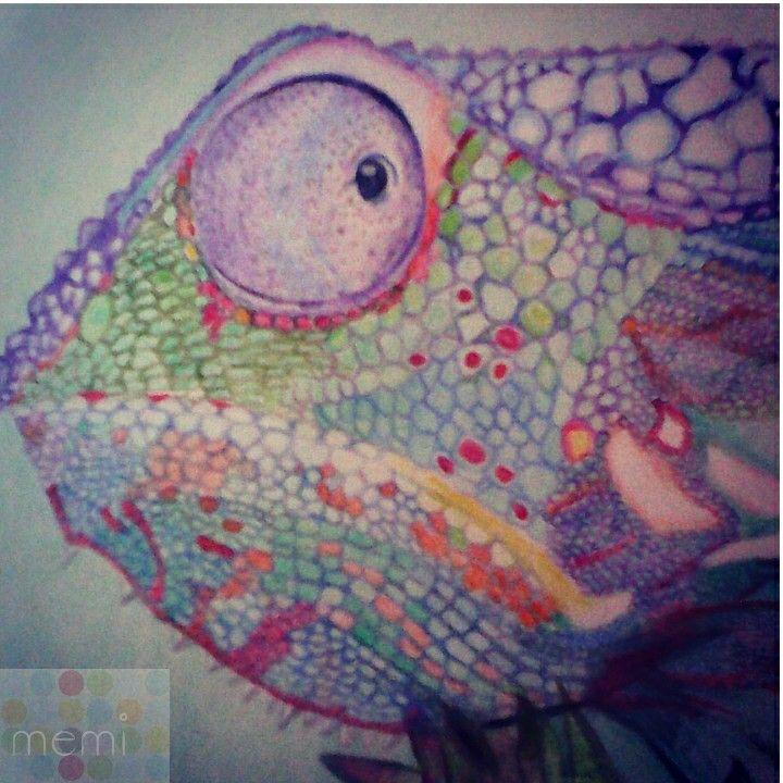 Camaleon #lapiz#pencil#drawing#camaleon#color#