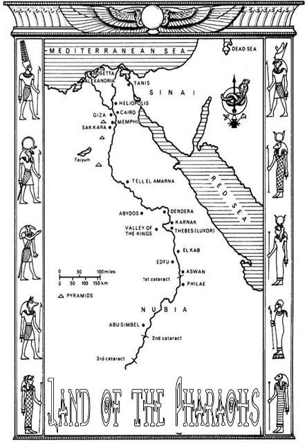 Egypt Political Map Color Page