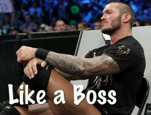 Like a boss #RandyOrton #WWE