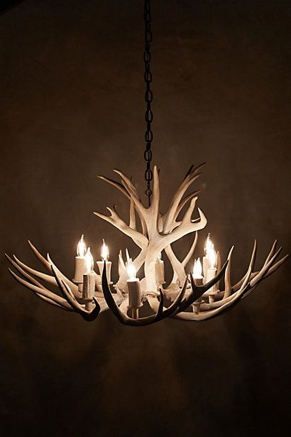 Obviously I want this Shed Antler Chandelier - anthropologie.com