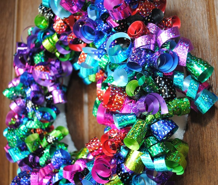 Kids birthday wreath from Crazy Little Projects