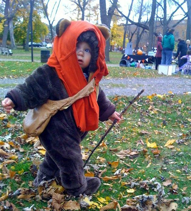 Cutest costume ever! Ewok baby!