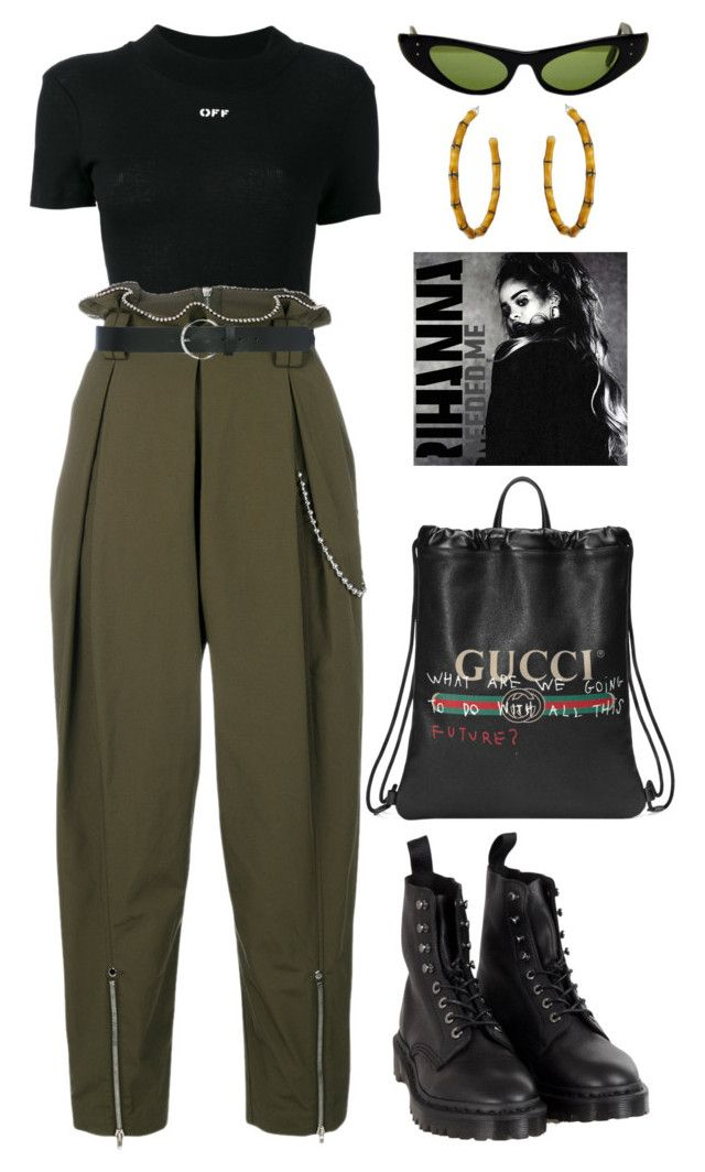"""""""Keo"""" by lalagenue on Polyvore featuring Off-White, Alexander Wang, Dr. Martens, Ray-Ban, Gucci, Kenneth Jay Lane and M&Co"""