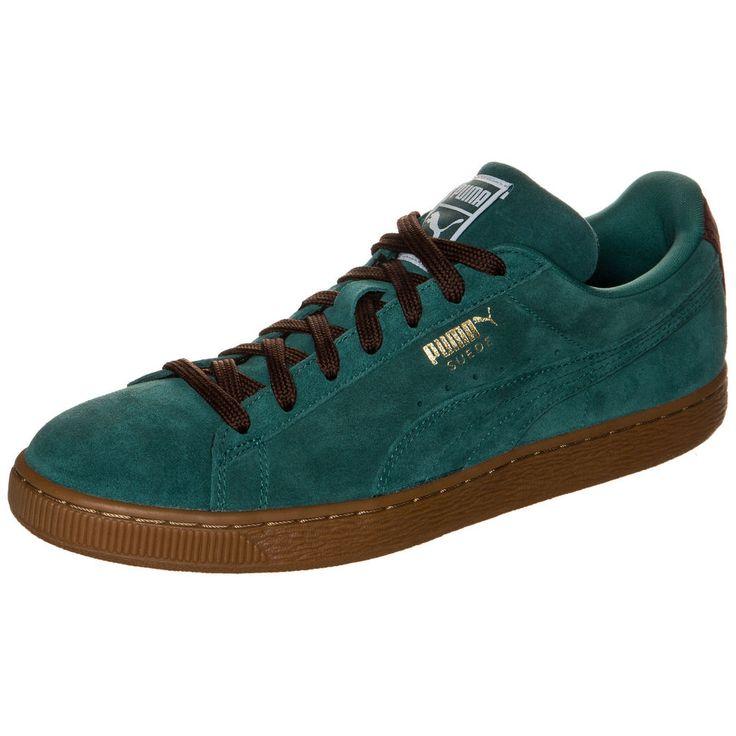 Puma Suede Classic Casual Sneaker grün / braun NEU Schuhe Turnschuhe