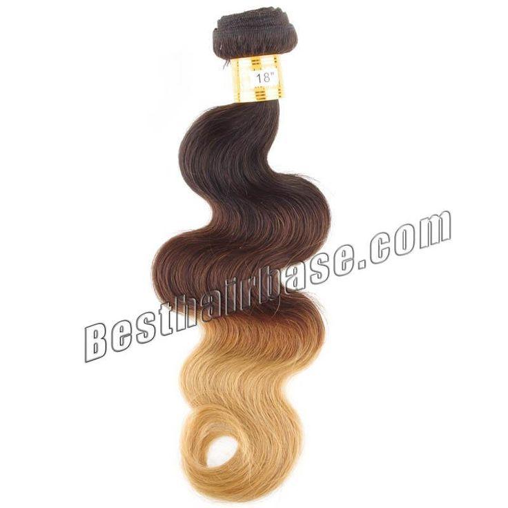 Grado superior tres tonos armadura brasileña del pelo Ombre en Color # 1b - #30 - #27 100 g/pc dobles tramas del pelo Remy 10 - 32 pulgadas venta al por mayor