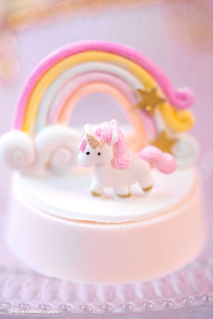 Unicorn chocolate covered Oreo from a Baby Unicorn 1st Birthday Party on Kara's Party Ideas   KarasPartyIdeas.com (13)