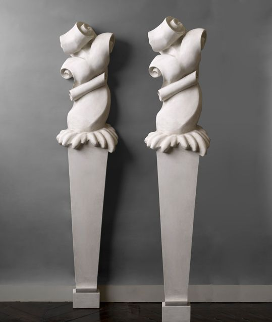 Serge Roche - Pair of columns