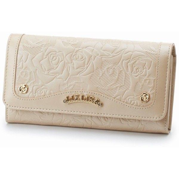 財布(ローズカタオシ長財布) | リズリサ(バッグ&ウォレット)(LIZ LISA Bag&Wallet) | ファッション通販... ❤ liked on Polyvore featuring bags, wallets, pink bag and pink wallet