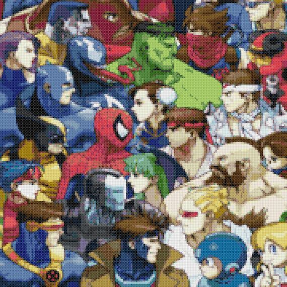 Hey, I found this really awesome Etsy listing at https://www.etsy.com/listing/92275248/marvel-vs-capcom-cross-stitch-pattern