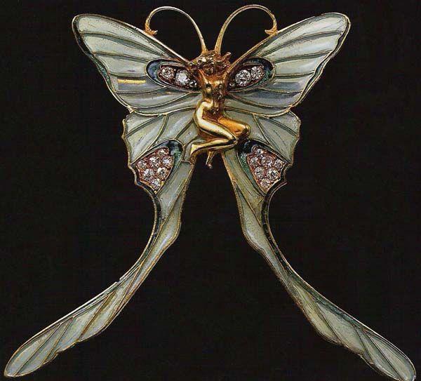 Butterfly woman brooch by René Lalique
