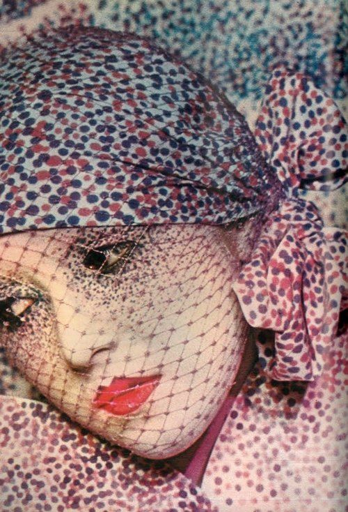 makeup by Serge Lutens for Dior  inspired by Georges Seurat  photo by Max Thiry for Vogue Paris, 1973