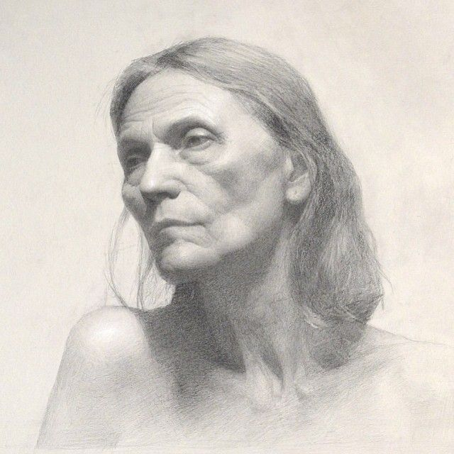 Anna Nina, graphite and white charcoal-  by Gregory Mortenson