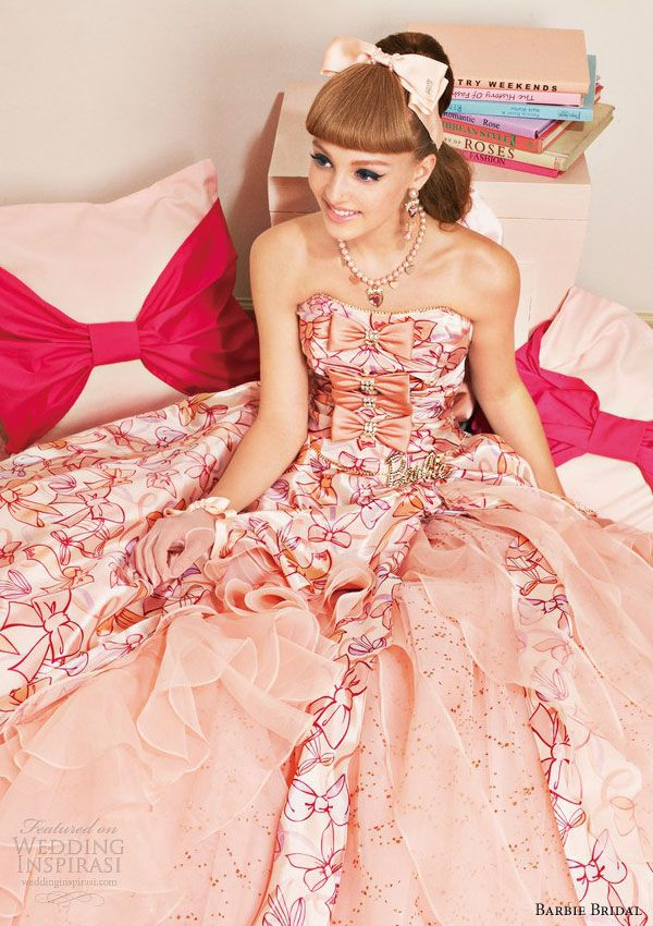barbie pink wedding dress 2013 strapless ball gown 0108, Just gorgeous