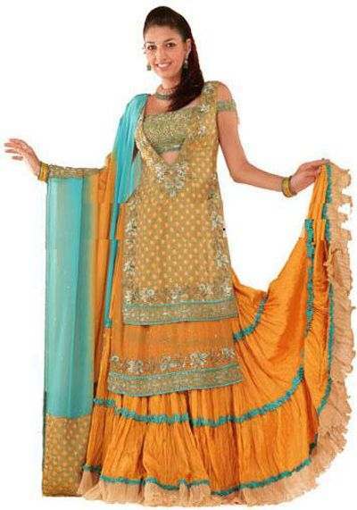 Elegant Bridal Mehndi Clothes 2014 15 for Teen Age Girls 5 Elegant Bridal Mehndi Clothes 2014 15 for Teen Age Girls