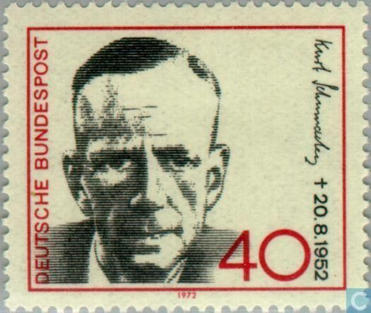 Postage Stamps - Germany, Federal Republic [DEU] - Kurt Schumacher (1895-1952)