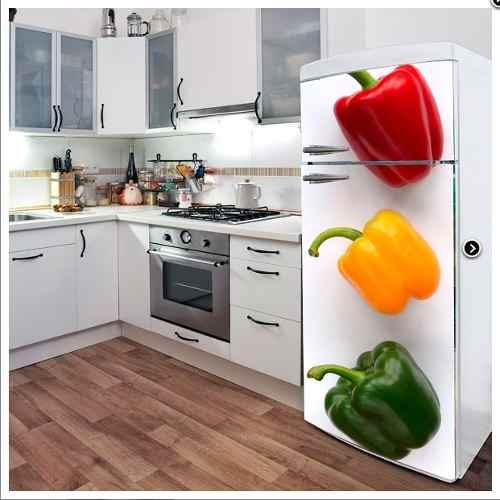 Vinilos decorativos cocina heladera personalizados deco for Vinilos decorativos para cocina