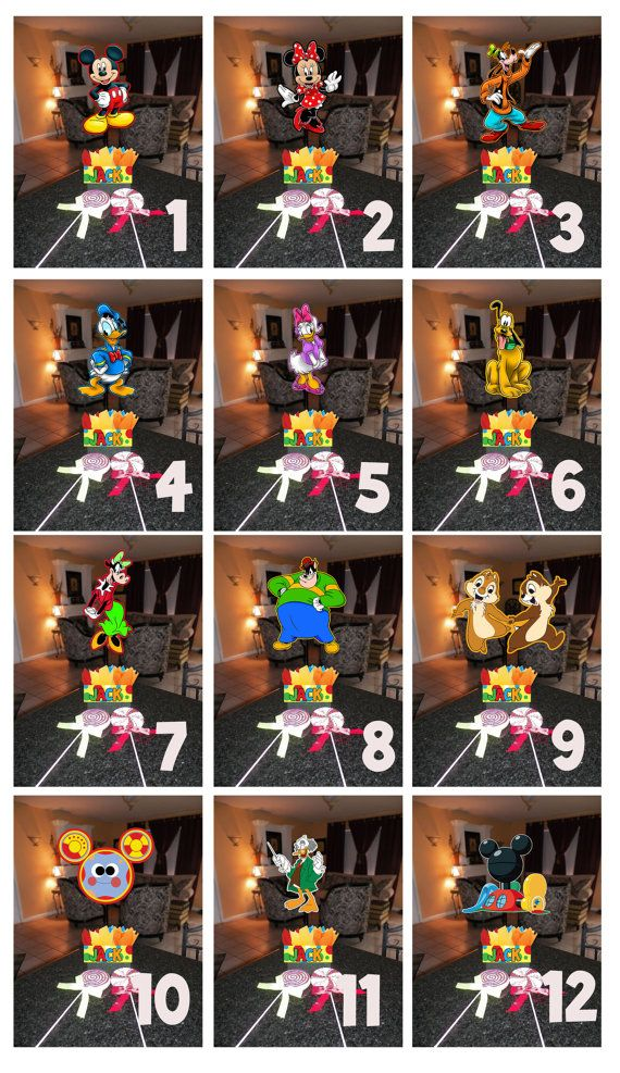 Diy 12 small mickey mouse birthday party centerpieces for Do it yourself centerpieces for birthday