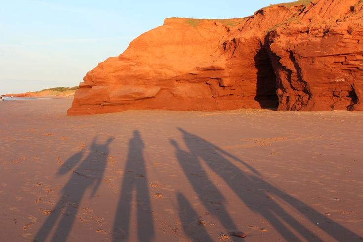The sand and cliffs around Twin Shores Camping Area Darnley, Prince Edward Island