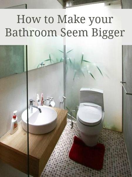 Make a small bathroom look bigger - tips, tricks and advice