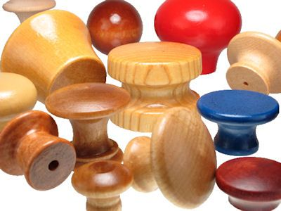 Wood_Knobs___assorted.jpg, Custom Wood Knobs, Wooden Knob Custom-Made in USA, Painted Wood Knobs, Wood Ball Knobs, Wooden Drawer Pulls