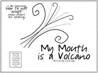 my mouth is a volcano worksheet