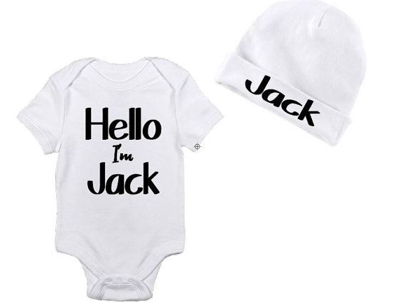 Hello I'm New Here, Newborn onesie, Baby Boy Take Home Outfit, Baby shower gift, Baby Boy Gift, New baby hospital gift, Baby girl Gift