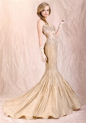 gold mermaid gown - Google Search