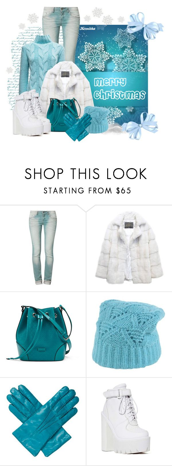 """nr 628 / Merry Christmas"" by kornitka ❤ liked on Polyvore featuring One Green Elephant, Brooks, Lilly e Violetta, Gucci, Tak.Ori, Marc Jacobs and Jeffrey Campbell"