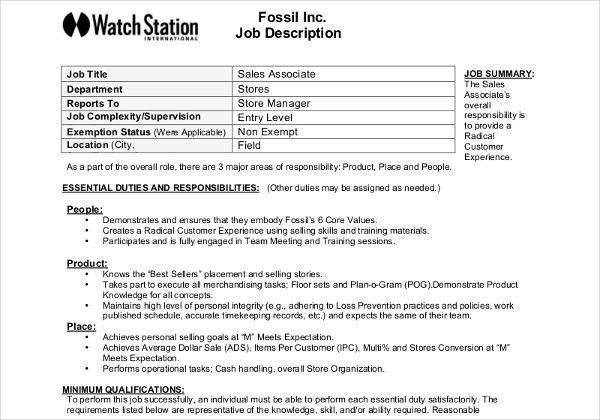 11 Job Description Templates Job Description Template Job