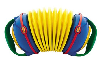 Classic accordion: easy grip soft handles. Push and pull to make music. Twisting the handles changes the notes played. £28.99