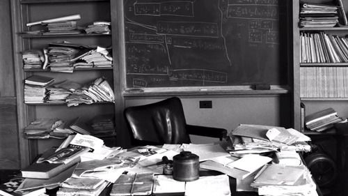 Albert Einstein's desk.  We should be able to make the office our own (good or bad).: April 18, Offices, Desks, Einstein S Office, Einstein S Desk, Photo